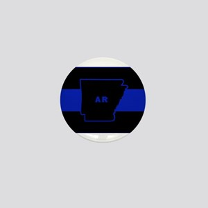 Thin Blue Line - Arkansas Mini Button